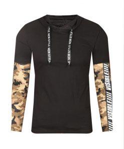 Мъжка тениска с дълъг ръкав X2203 Черен - Alf.bg