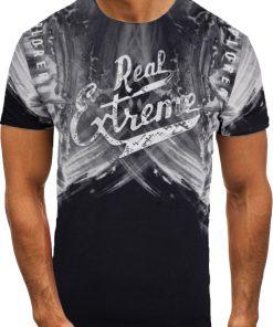 Мъжка тениска X2068 Черен - Alf.bg