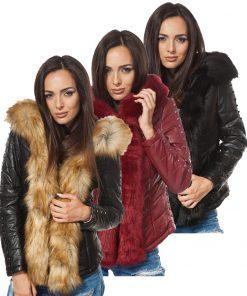 Дамско кожено яке - 4011 - Alf.bg