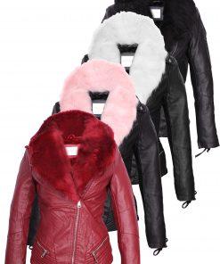 Дамско кожено яке  - P3103 - Alf.bg