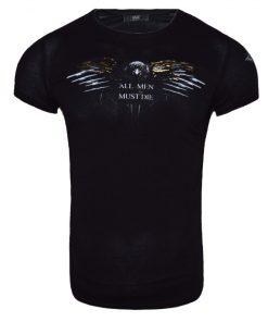 Мъжка тениска X2047 Черен - Alf.bg