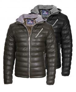 Мъжко зимно кожено яке - 3165 - Alf.bg