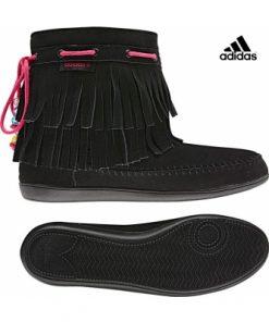 Adidas Neo Qt Frills - дамски ботуши от естествен велур - черно - Alf.bg
