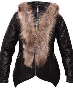 Дамско кожено яке  - P3005 - Alf.bg