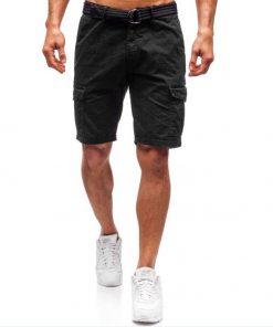 Къси мъжки панталони X45 Черен - Alf.bg