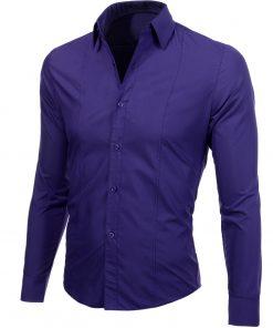 Изчистена мъжка лилава риза