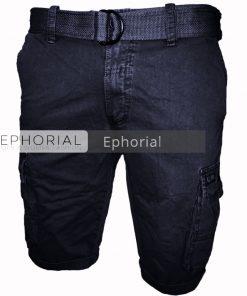 Къси мъжки панталони X014 син - Alf.bg