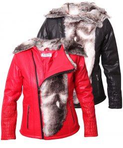 Дамско кожено яке  - P3009 - Alf.bg