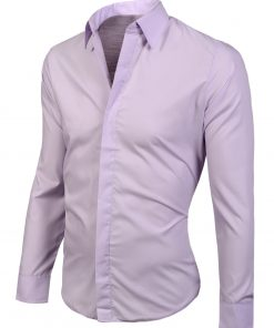Елегантна мъжка риза в екрю - Alf.bg