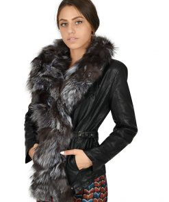 Зимно кожено яке 4075 - яка от естествен косъм - Alf.bg