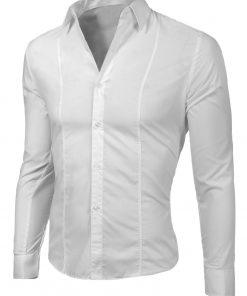 Изчистена мъжка бяла риза