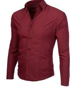 Изчистена мъжка риза бордо