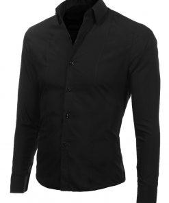 Изчистена мъжка черна риза