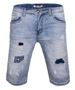 Къси мъжки дънки X019 - Alf.bg