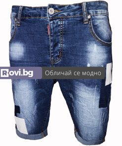 Къси мъжки дънки X07 - Alf.bg