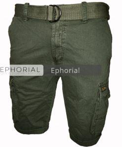 Къси мъжки панталони X014 зелен - Alf.bg