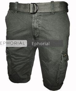 Къси мъжки панталони X014 сив - Alf.bg