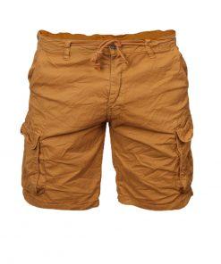 Къси мъжки панталони X37 Горчица - Alf.bg