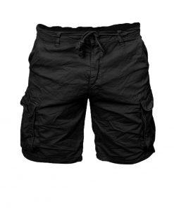 Къси мъжки панталони X37 Черен - Alf.bg
