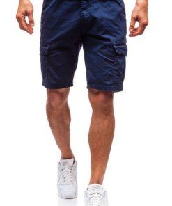 Къси мъжки панталони X45 Син - Alf.bg