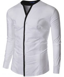 Мъжка бяла риза без яка Даниел - Alf.bg