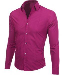 Мъжка вталена цикламена риза