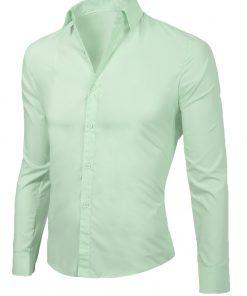 Мъжка светлозелена риза