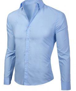Мъжка синя риза