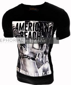 Мъжка тениска X2012 черна - Alf.bg