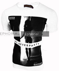 Мъжка тениска X2013 бяла - Alf.bg