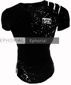 Мъжка тениска X2020 черна - Alf.bg