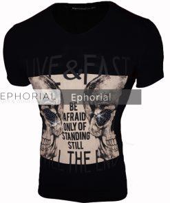 Мъжка тениска X2022 черна - Alf.bg