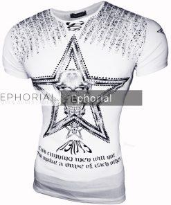 Мъжка тениска X2023 бяла - Alf.bg
