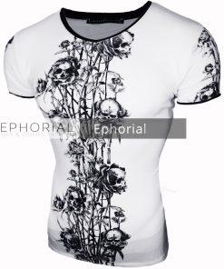 Мъжка тениска X2024 бяла - Alf.bg
