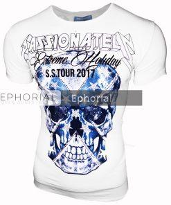 Мъжка тениска X2025 бяла - Alf.bg