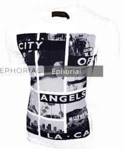 Мъжка тениска X2030 бяла - Alf.bg