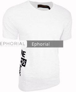Мъжка тениска X2031 бяла - Alf.bg