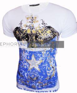 Мъжка тениска X2032 бяла - Alf.bg