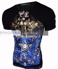Мъжка тениска X2032 черна - Alf.bg