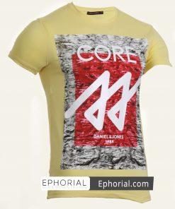 Мъжка тениска X2034 жълта - Alf.bg