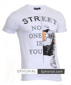 Мъжка тениска X2036 бяла - Alf.bg