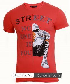 Мъжка тениска X2036 червена - Alf.bg
