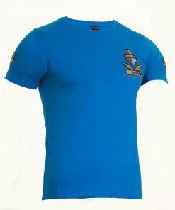 Мъжка тениска X2037 син - Alf.bg