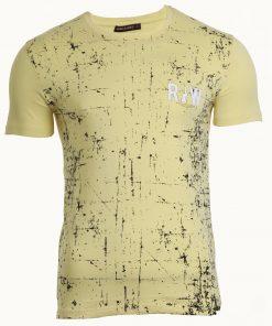 Мъжка тениска X2038 жълт - Alf.bg
