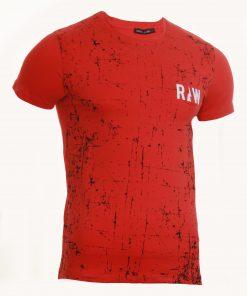Мъжка тениска X2038 червен - Alf.bg