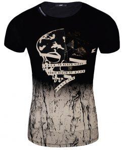 Мъжка тениска X2041 Черен - Alf.bg