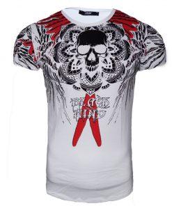 Мъжка тениска X2045 Бял - Alf.bg