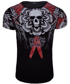 Мъжка тениска X2045 Черен - Alf.bg