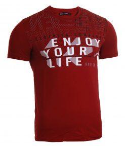 Мъжка тениска X2050 бордо - Alf.bg