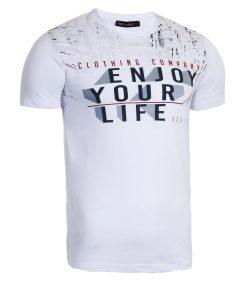 Мъжка тениска X2050 бял - Alf.bg